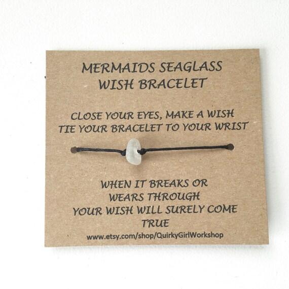 Sea glass wish bracelet, beach glass ankle bracelet