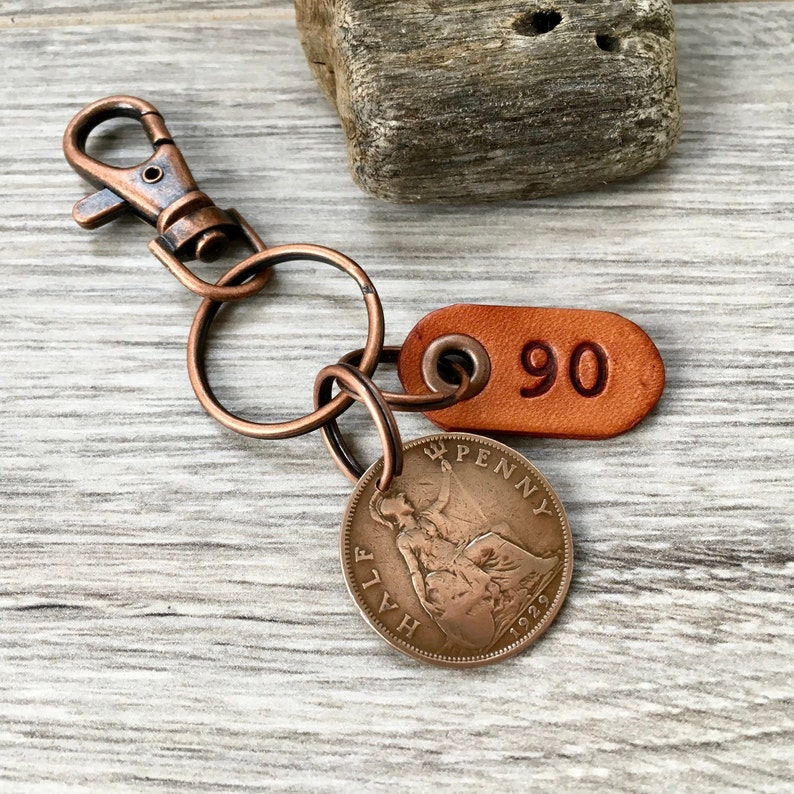 Keyring Coin Gift 90th Celebration Gift 1929 Penny In 2019