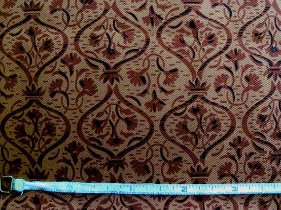Vintage 50s Rusty Brown Foulard Silk Habutai Fabric   Etsy f641b548366