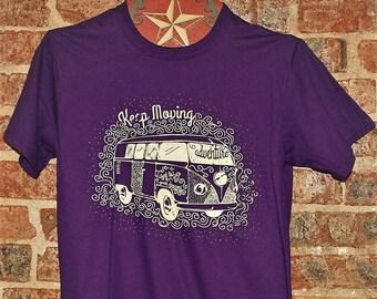 VW WESTFALIA T Shirt Westfalia Tshirt VOLKSWAGON T Shirt Camping Van T Shirt Retro Vanagon TShirt Hippie Van TShirt Womans Purple