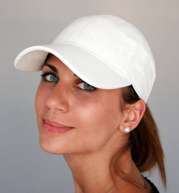 Baseball Cap Leather Baseball Cap Womens Cap White Cap  ef544823852