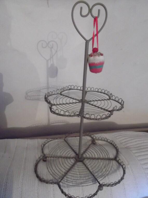 COEUR CUPCAKE se tiennent, en métal, les mariages, anniversaire, Saint-Valentin