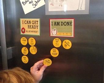 Wooden Magnetic Chore Chart