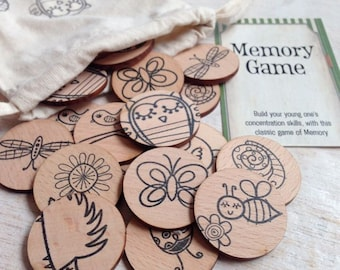 Wooden Memory Game - Woodlands Friends Edition
