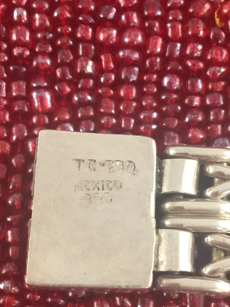 Wide Heavy Sterling Bracelet