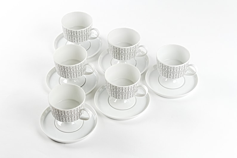 Place setting for 6 persons. Tapio Wirkkala Rosenthal Secunda