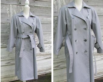 471d77079d3d Plaid trench coat