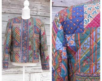 5ade412bfb36 Vintage Vera Bradley Quilted Jacket    Vera Bradley Rare Retired Medley  Design Jacket   Size M