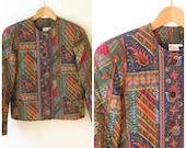 SALE Vintage Vera Bradley Quilted Jacket Vera Bradley Rare Retired Medley Design Jacket Size M