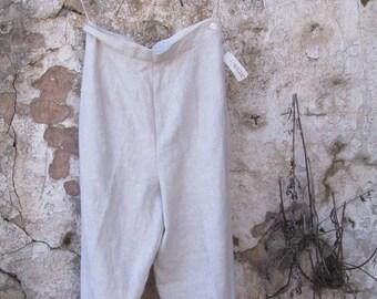 Vintage Irish linen pants  Size 4  details on the buttom