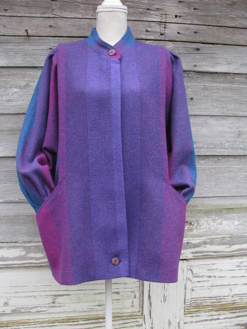 9ceb554e9d0 Vintage 80s Wool Jacket Coat by Avoca Collection Made in