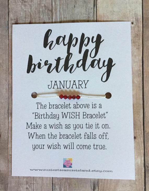 January Birthday Wish Bracelet Card Make A