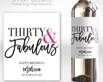 | Birthday Wine Label 60th | Congratulations Wine Label 40th Totes getting drunk tonight 30th 50th 21st