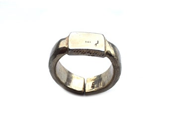 NEW ITEM - Sculpted & Stamped Sterling  Silver  Ring - 5mm Thick - 20g