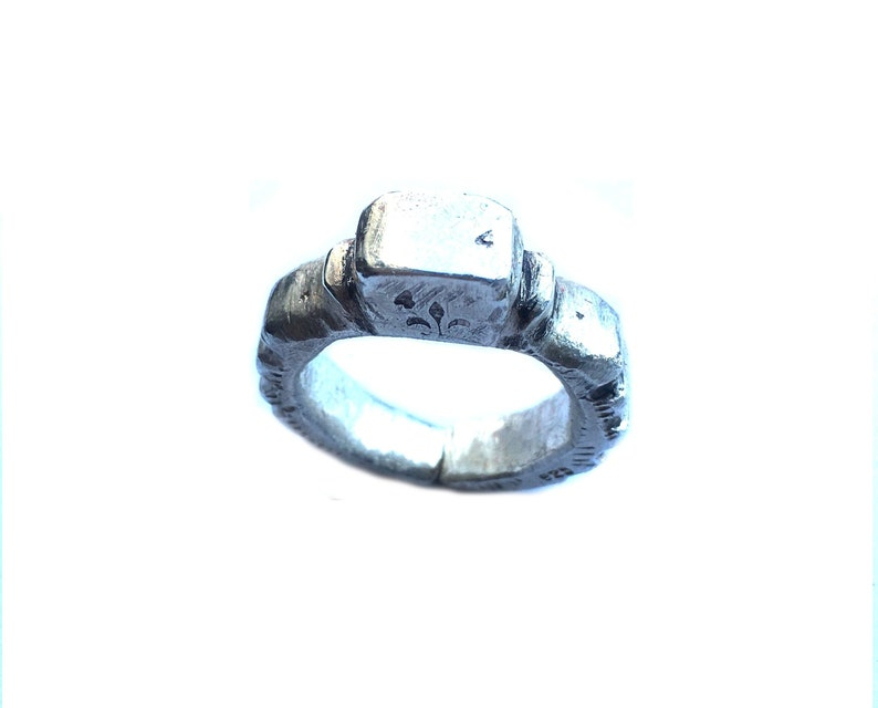 Sculpted /& Stamped 5mm Thick NEW ITEM Tribal 20g 999 Fine Silver Ring