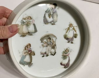 Vintage 3 Crowns Germany Child's Dish Alphabets