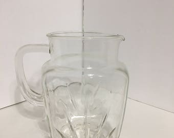 Vintage Glass Star Burst Pitcher