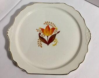 Harker USA Modern Tulip Cake Plate