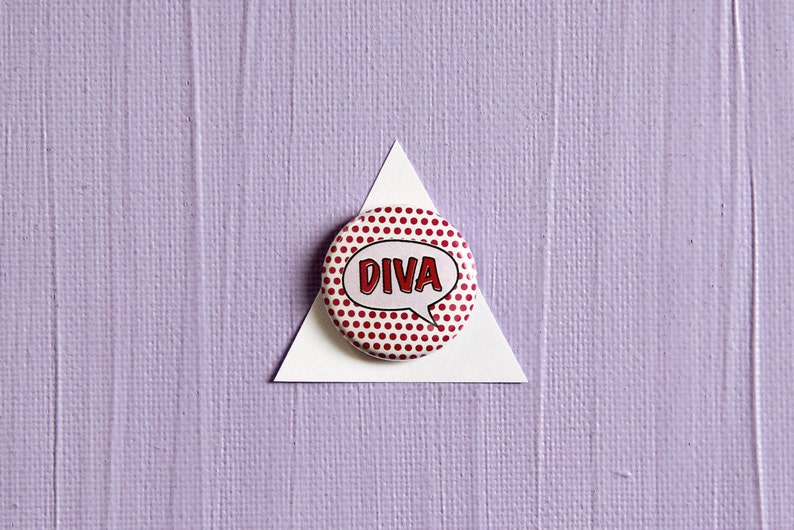 Diva Pin or Magnet image 0