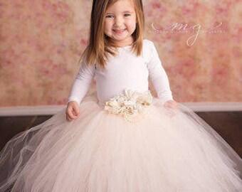 Flower girl tutu dress long sleeve  9d9bbb598