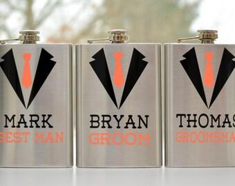 Wedding Flasks - 8oz - Personalized Groom/Groomsmen flasks