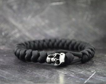 Skull Paracord Bracelet - BLACK