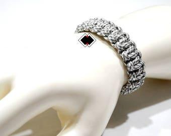 paracord survival bracelet artic camo handmade in USA