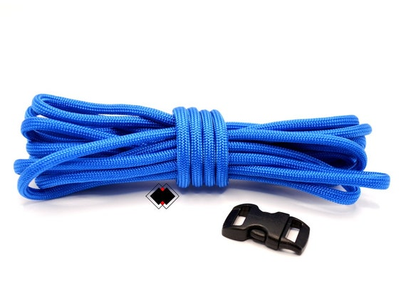 Paracord Starter make your own paracord survival bracelet - 10 feet american paracord and plastic buckle - Royal Blue