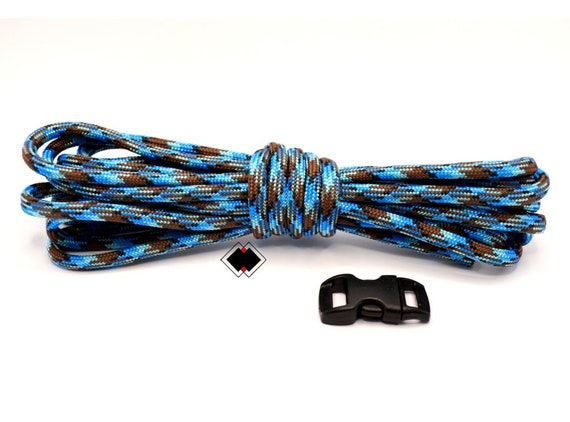 Paracord Starter make your own paracord survival bracelet - 10 feet american paracord and plastic buckle - Abyss