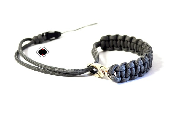 made in USA adjustable with swivel clasp paracord camera wrist strap by