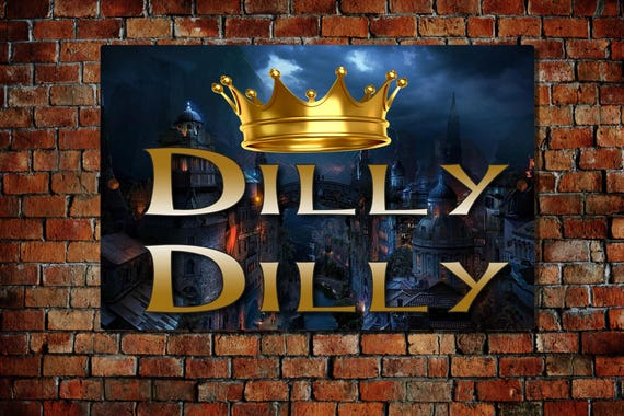Sticker Metallic Gold Dilly Dilly Beer Decal