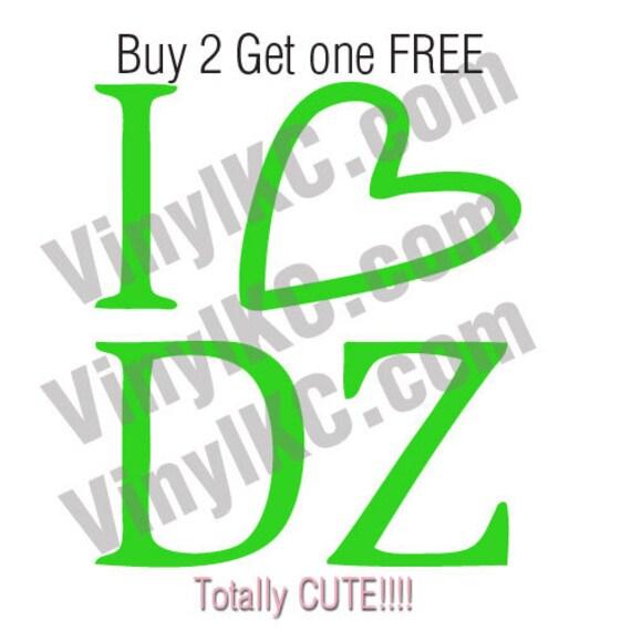 Delta Zeta I Heart Dz Sticker Decal Buy 2 Get 1 Free Super Etsy