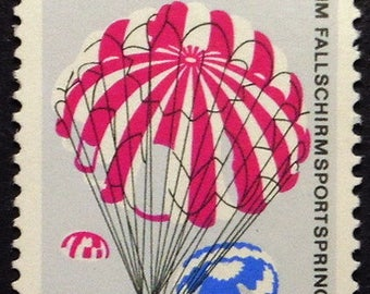 Parachute, Sports, Germany -Handmade Framed Postage Stamp Art 22363AM
