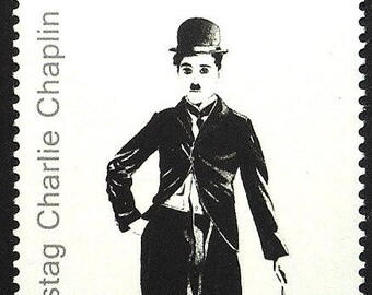 Charlie Chaplin, Comic Actor -Handmade Framed Postage Stamp Art 22247AM