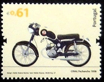 Cinal Pachancho 1958 Motorcycles -Handmade Framed Postage Stamp Art 20916AM