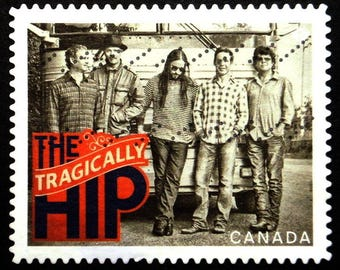 The Tragically Hip Canadian Recording Artists Canada Music -Handmade Framed Postage Stamp Art 22746AM