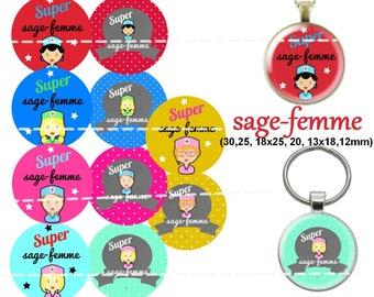 60 digital images for cabochon wise woman. 30, 25, 18 x 25, 20, 18x13mm