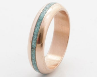 Turquoise Wedding Band copper wedding ring turquoise ring turquoise ring mens wedding band woman ring