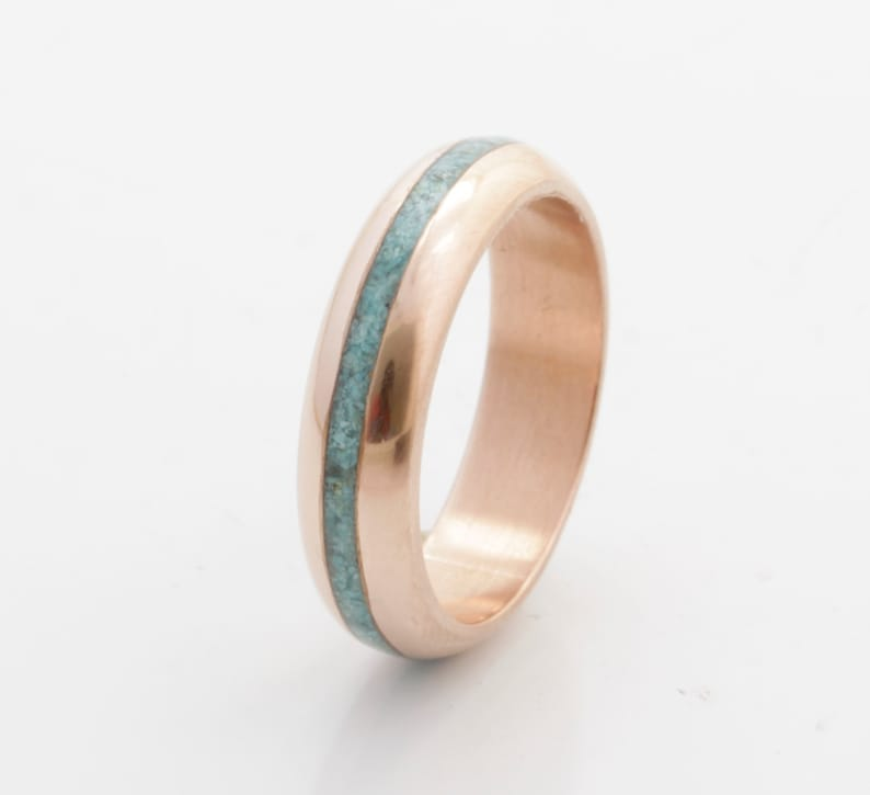 472fba4927712 Turquoise Wedding Band copper wedding ring turquoise ring turquoise ring  mens wedding band woman ring