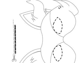 Pokemon Starters Part 2 Coloring Page Party Masks Braixen Fennekin Torchic Froakie Frogadier