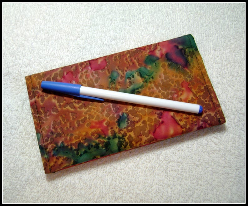 Fabric Checkbook Covers Quilted Checkbook Cover Quilted Checkbook CC14 Checkbook Cotton Fabric