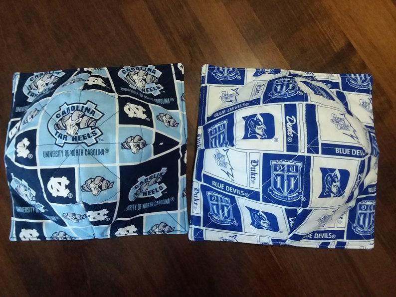 Tarheels UofM Ohio State COLLEGE THEMED Bowl Cozies Blue Devils MI State,Sooners,Crimson Tide,Seminoles,Boilermakers