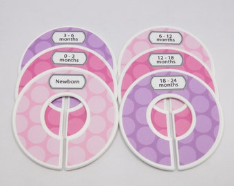 Custom Baby Closet Dividers Pink and Purple Nursery Baby Shower Gift Closet Organizer Finished Closet Dividers