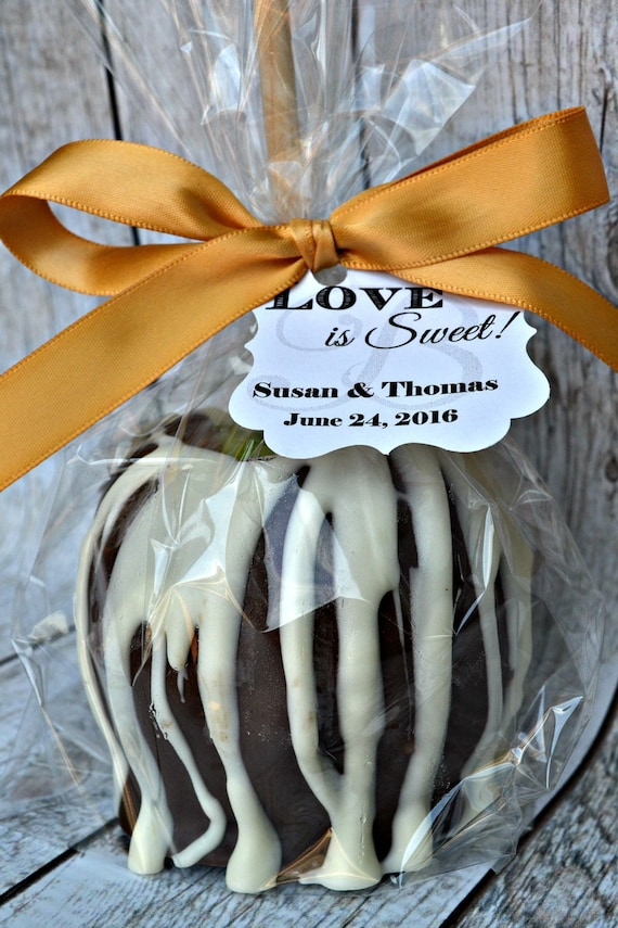 10 Caramel Apples Milk Chocolate Wedding Favors Fall Etsy