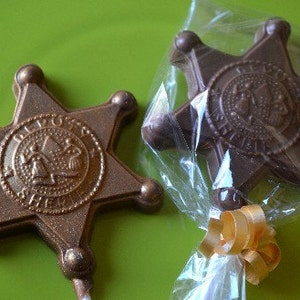 Cowboy Cowgirl boots Chocolate Lollipop Party Favors