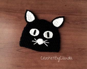 d78e2a276c46c Black cat beanie | Etsy