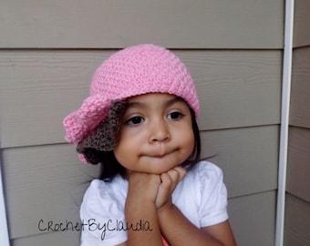 Crochet Magnolia Cloché/ Little Girl Cloché/Made To Order