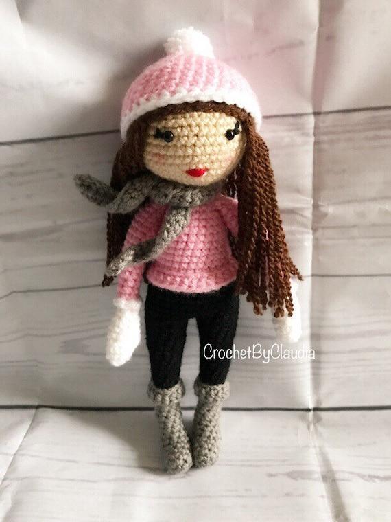 Gehaakte Pop Sarah Popamigurumi Haak Doll Toy Dollmade Etsy