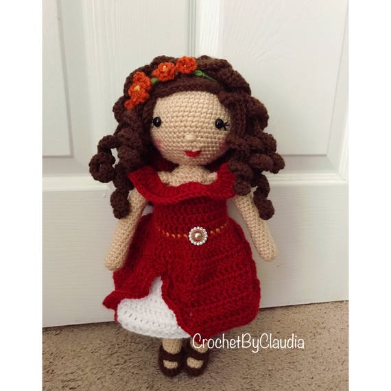 Muñeca de Elena muñeca/Amigurumi de ganchillo / Crochet muñeca