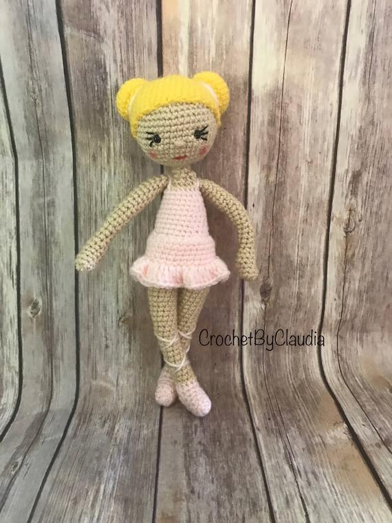 Crochet Ballerina Puppeamigurumi Puppe Häkeln Puppe Etsy